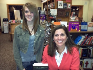 Jocelyn and author Clare Vanderpool