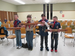 The old Webelos II/new Boy Scouts with their Arrow of Light awards. Congrats boys!