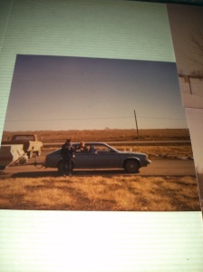 My brothers by our Chevrolet Citation hauling our camper down from Montreal, Canada.