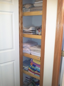 My wonderfully organized linen closet!