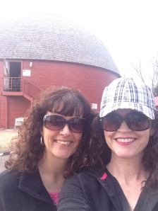 Malena and I by the Round Barn. Love her! We always have such fun when we get together!
