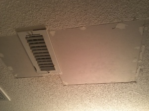 Yucky ceiling.