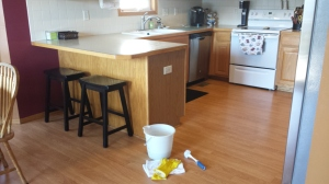 The kitchen after the cleaning. Ahhhhh!