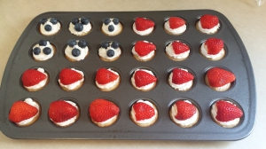 Flag cupcakes ready to go!