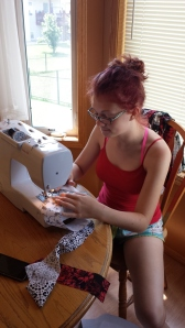 Sewing away!