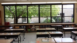 I love, love, love these windows looking out into the courtyard. I even signed up for the courtyard committee this year!