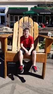 Back in River Run, Keystone, we always enjoy a picture in the big chair.