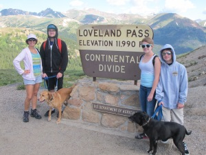Day 1: Hike along the Continental Divide.  Haven't done this one in a long time and the kids and dogs loved it!