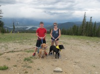 At the top of Dercum Mountain. It started raining on our way up in the gondola so we didn't spend much time up here.