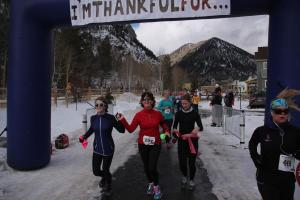 "Our ""official"" finish picture. Yes, I grabbed my daughter's hand so we could finish together. I know, too sweet."
