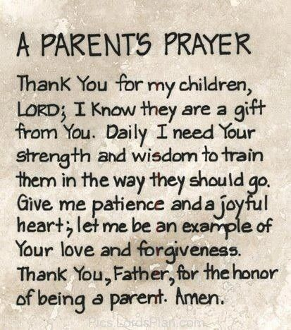 parenting prayer