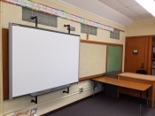 Blank bulletin boards