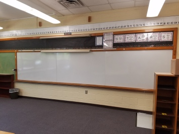 Empty whiteboards